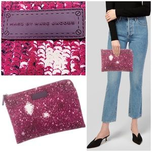 Marc by Marc Jacobs Logo Printed Zip Clutch